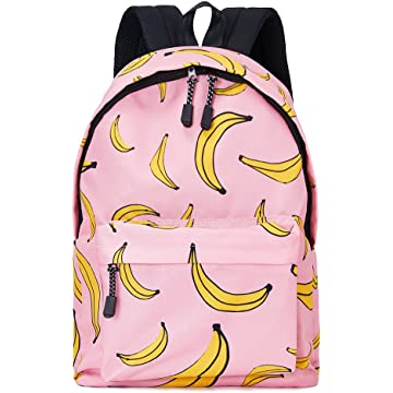Uideazone Girls Teens Bookbags Casual Lightweight Banana Backpack School Book Bags