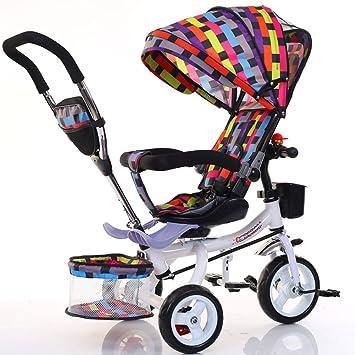 Bicicletas para niños Guo Shop- Triciclo para niños Bicicleta Plegable para bebés Cochecito de bebé
