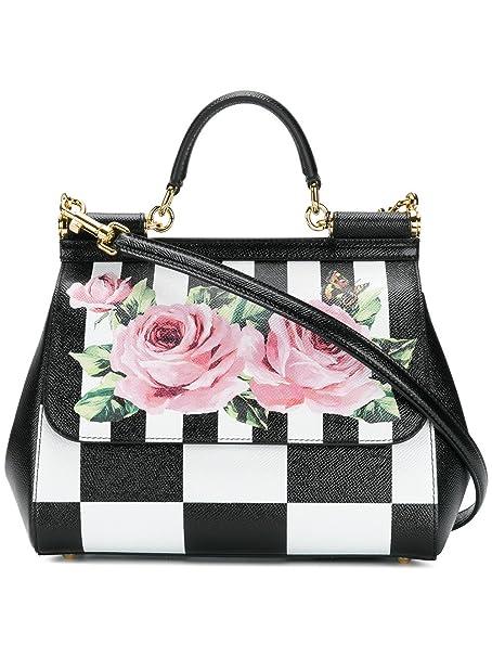 7f7f45dcd43e Dolce E Gabbana Women s Bb6002an186hwi10 White Black Leather Handbag   Amazon.ca  Clothing   Accessories