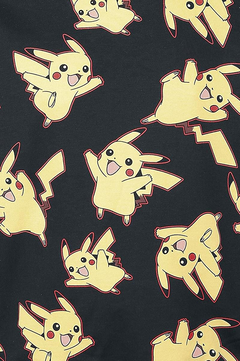 Pok/émon Pikachu all Over Sweater Felpa Uomo