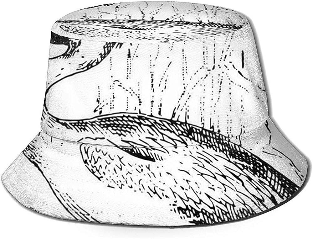 Gorra de Pescador, ilustración grabada de Estilo Vintage de Ave ...