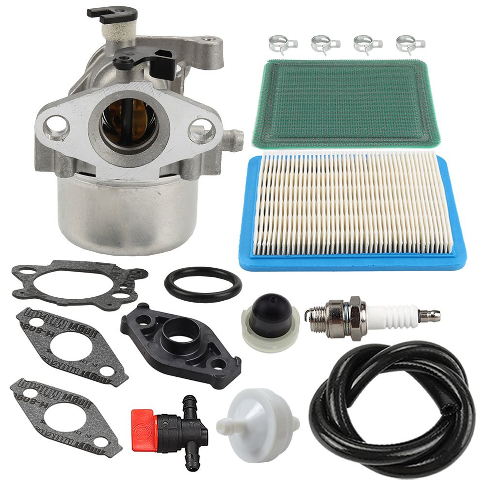 HIPA MIA11798 Carburetor + Air Filter Tune Up Kit for John Deere JS20 JS25 JS26 JS28 JS30 JS36 JS38 JM26 JM36 Mowmentum Walk-Behind Lawn Mower