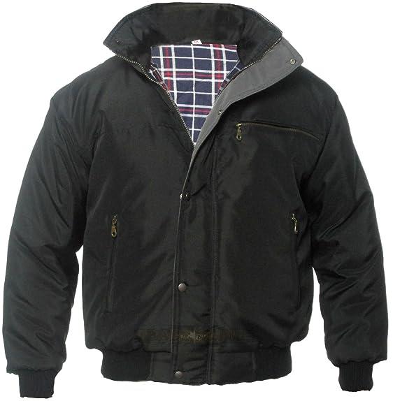 Men's Bomber Jacket, Sky Diver Jacket, Work Coat, Two Color, Black ...