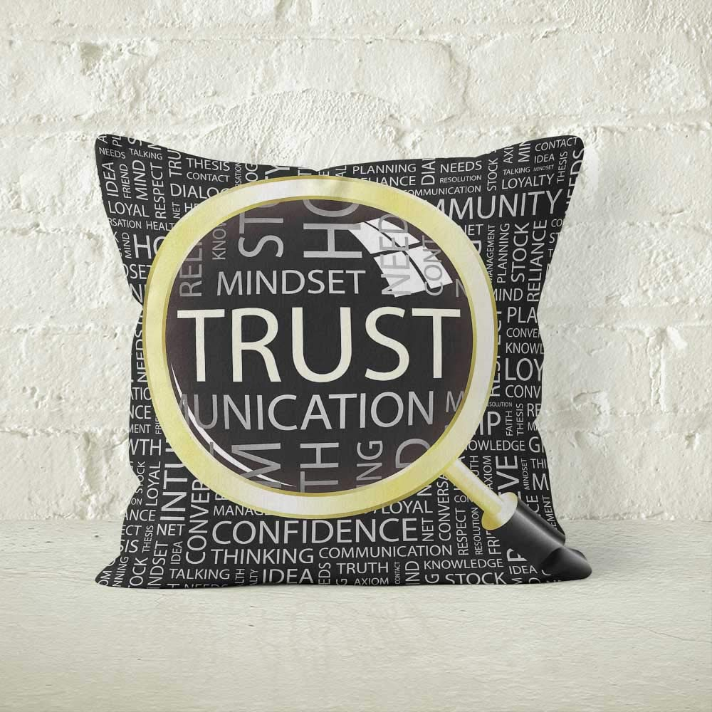 Nine City Lupa de Aumento de la Palabra Trust Throw Funda de ...