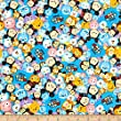 E. E. Schenck Disney Tsum Tsum Packed with Logo Blue Fabric by The Yard, Blue