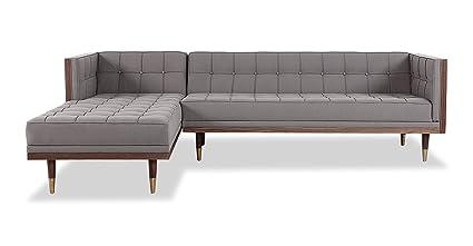 Awesome Amazon Com Kardiel Woodrow Midcentury Modern Box Sofa Ibusinesslaw Wood Chair Design Ideas Ibusinesslaworg