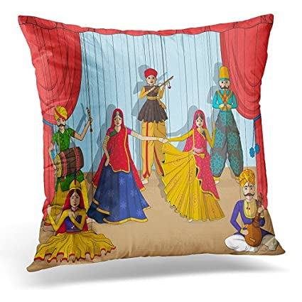 Amazon Throw Pillow Cover Rajasthan Design Of Colorful Gorgeous Indian Style Decorative Pillows