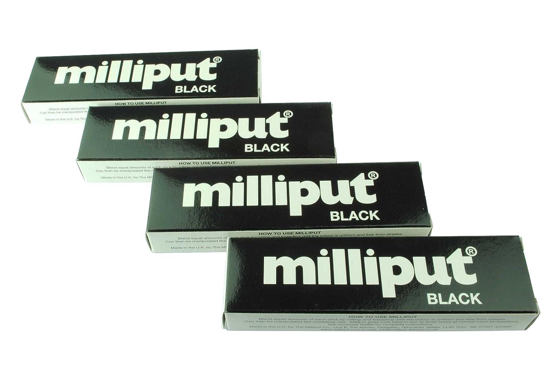 4 x Pack Milliput epoxi negro masilla. Modelado, escultura, cerámica, pizarra, reparación. (x1019c) fosforito: Amazon.es: Bricolaje y herramientas
