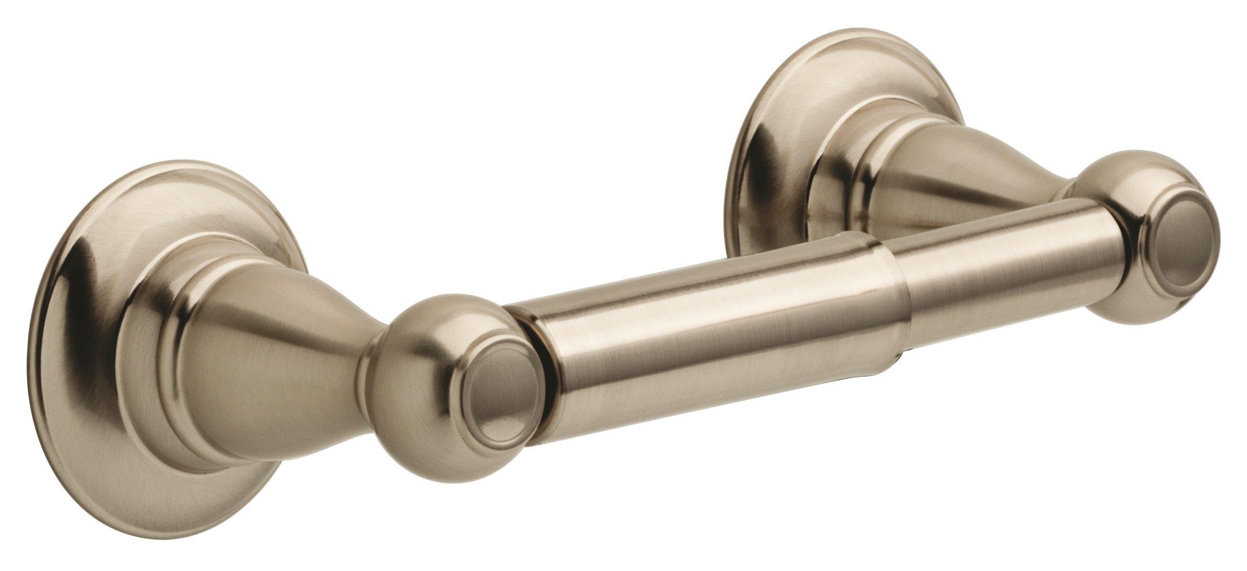 Delta PTR50-BN Porter Bath Hardware Accessory Toilet Paper Holder, SpotShield Brushed Nickel by DELTA FAUCET