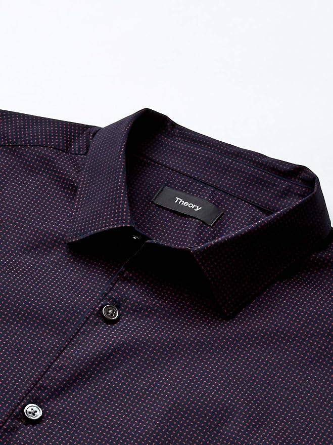 Theory 希尔瑞 Murray 男式格子衬衫 L码2.5折.69 海淘转运到手约¥362