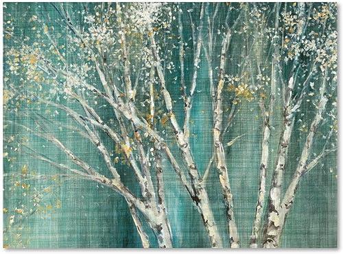 Blue Birch Canvas Wall Art