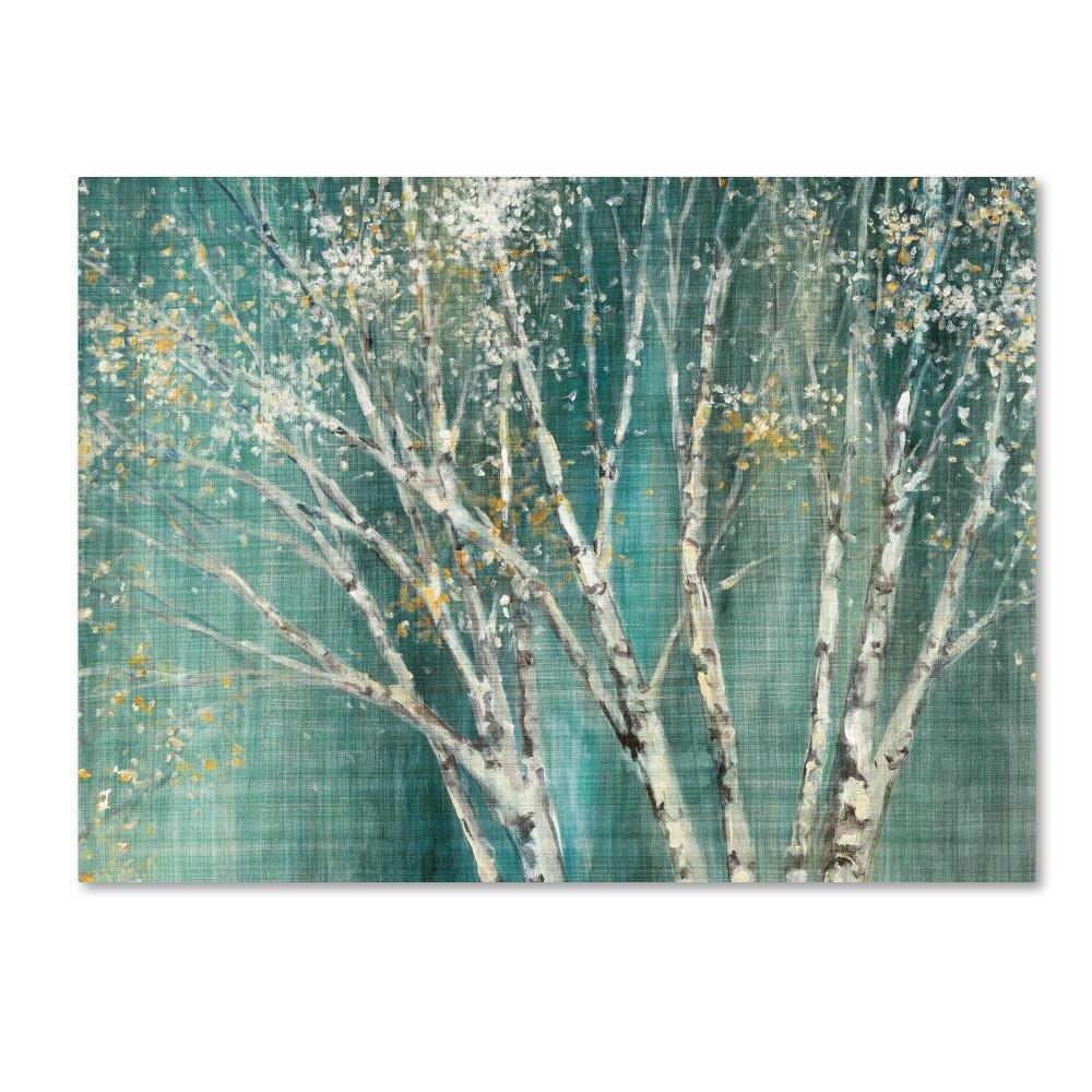 Trademark Fine Art Blue Birch by Julia Purinton, 14x19-Inch Canvas Wall Art