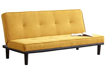 SUEÑOSZZZ - Sofa cama SURFER de 3 plazas color Mostaza ...