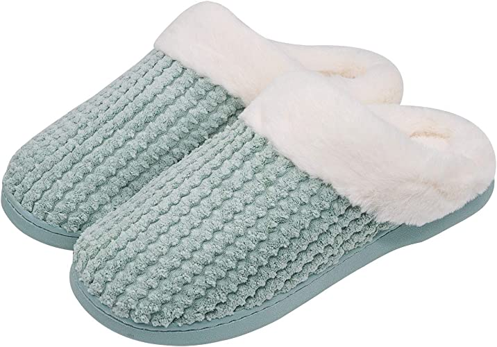 Sporzin Chaussures Automne Hiver Pantoufles Coton Peluche Chaussons Doublure Intérieure Femme Homme Accueil Slippers