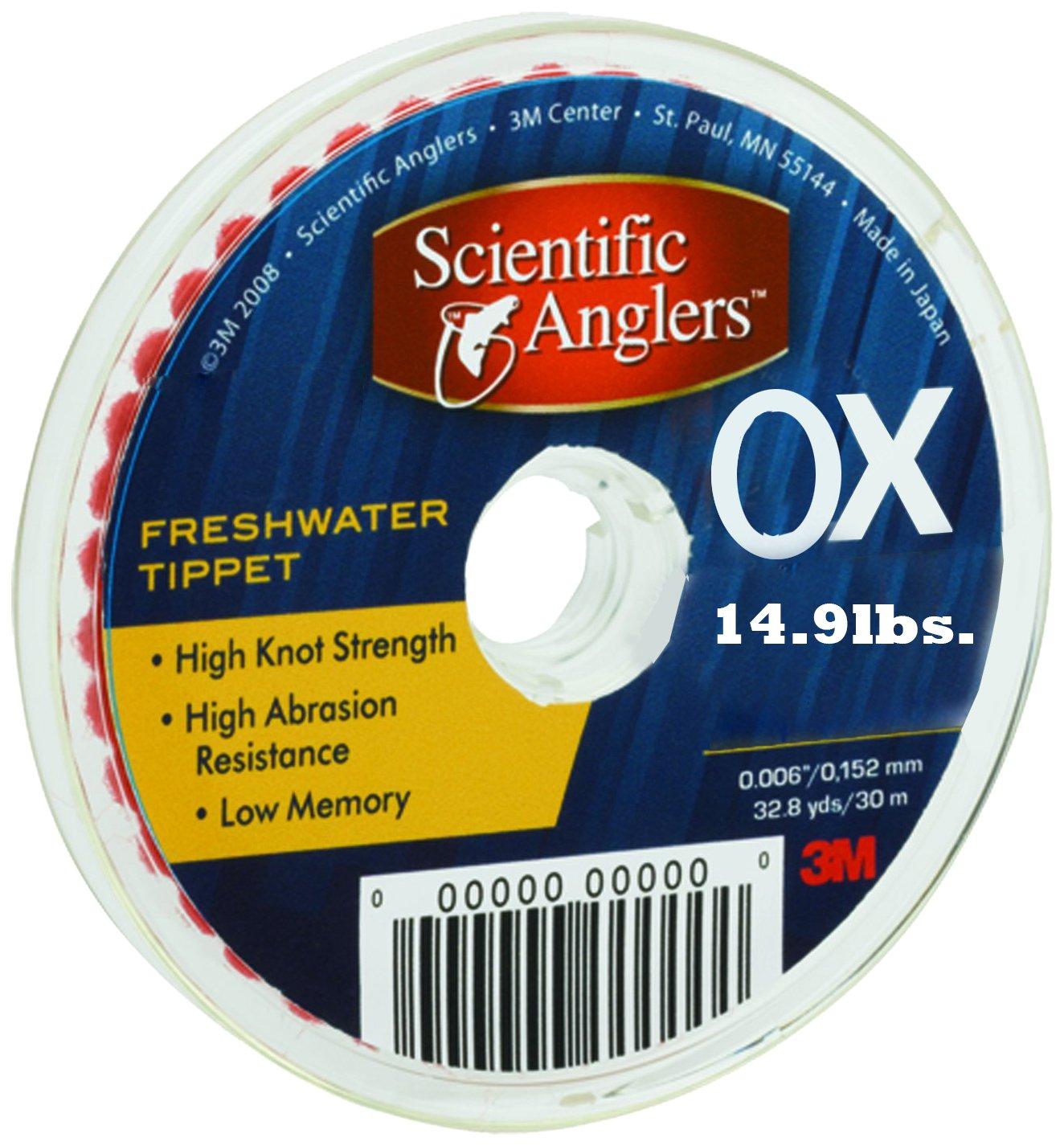 【500円引きクーポン】 3 M Scientific Anglers Scientific 186699淡水ティペットwith 30メートルスプール Anglers、0 X 3、クリア B000NLBA8M, マナツルマチ:7dd23888 --- a0267596.xsph.ru