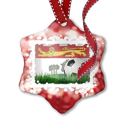 Prince Christmas Decorations.Amazon Com Neonblond Christmas Ornament Soccer Team Flag
