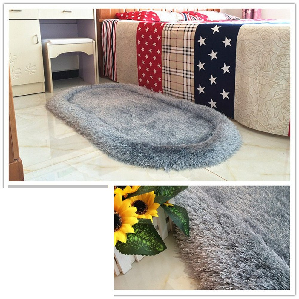 Bed bed blanket Cute children's room rugs Bedroom wall-to-wall carpet-E 70x180cm(28x71inch)