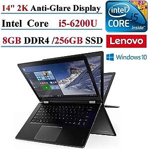 Lenovo Flex 4 14in Full HD Touchscreen Intel Core i5-6200U 2.3GHz, 256GB SSD, 8GB RAM, Windows 10 Home (Renewed)