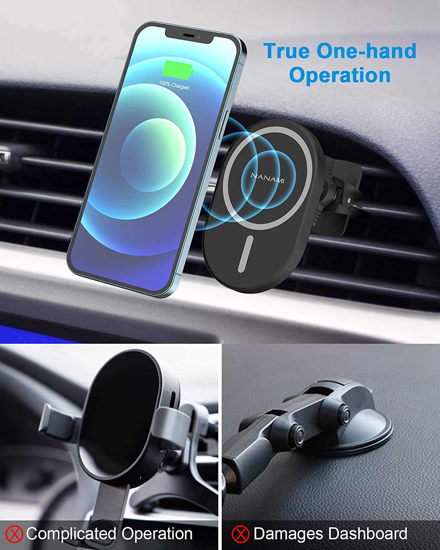 Nanami Kabelloses Auto Ladegerät Magnetisch Wireless Elektronik