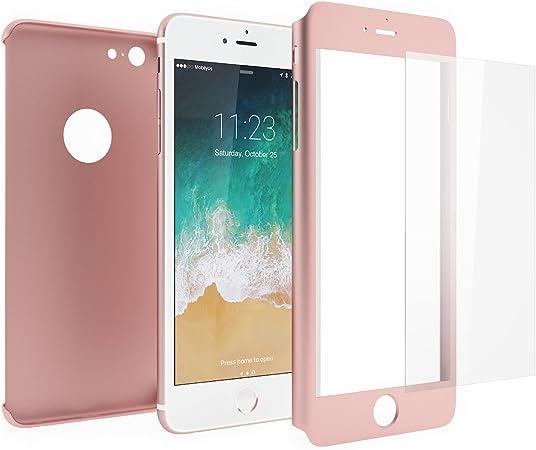 Mobilyos Cover iPhone 6s 360 Gradi e Vetro Temperato – Custodia Davanti e Dietro per iPhone 6s / 6 – Protezione Completa Fronte e Retro con Pellicola ...
