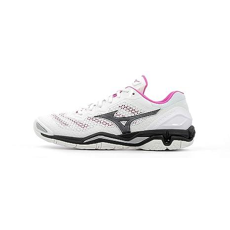 Mizuno Wave Stealth V Mujer Zapatillas de Balonmano – White/Pink