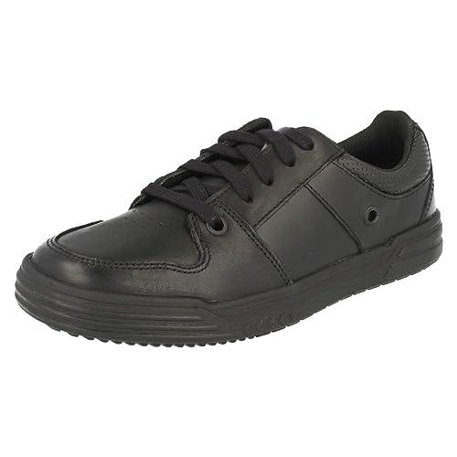 Clarks Chad Rail Boys Junior School Shoes 13 H Black