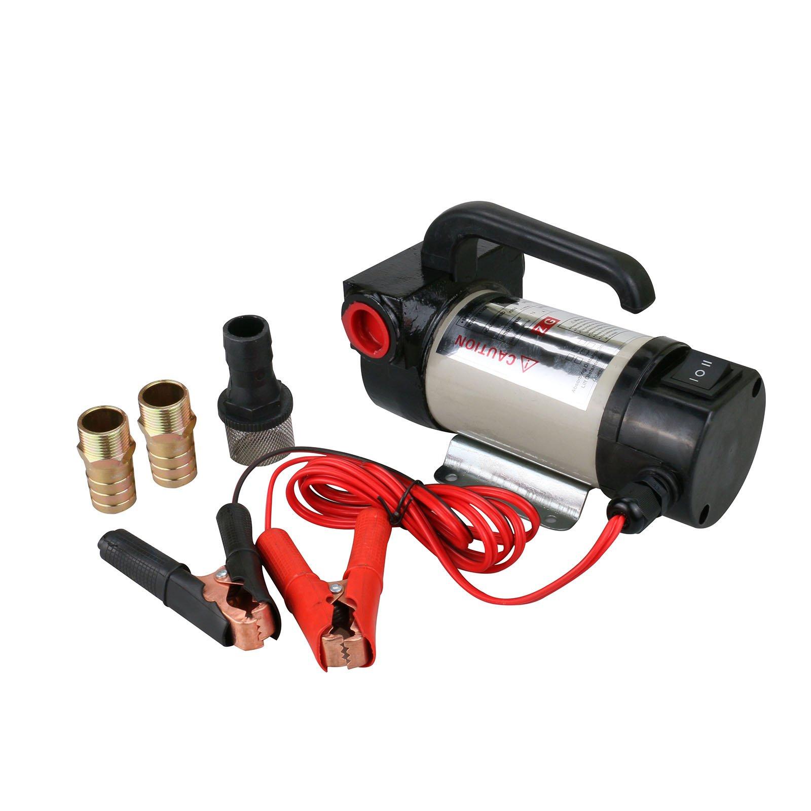 Diesel Oil Transfer Pump, Electric Tool Direct Current Pump Kit Alligator Clip 50L/min 24V DC by Mrcartool (Image #2)