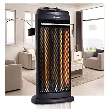Amazon.com: Costway Infrared Electric Quartz Tower Heater Living ...