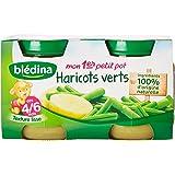Blédina Mon 1er Petit Pot Haricot Vert dès 4/6 mois 2 x 130 g - Lot de 6