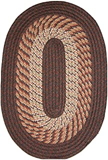 product image for Plymouth 5' x 8' Braided Rug in Chestnut Brown Made in USA