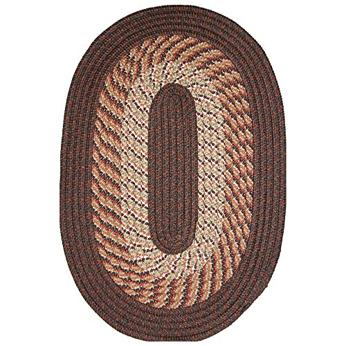Plymouth 5 x 8 Braided Rug in Chestnut Brown
