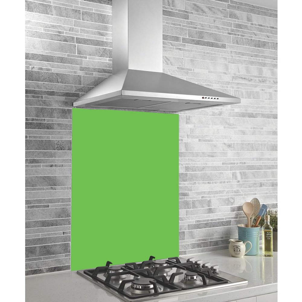 Hafele Kitchen Splash Guard Heat Resistant Toughened Safety Glass Midway Splashback Green (99.5cm x 44cm) Brooklyn