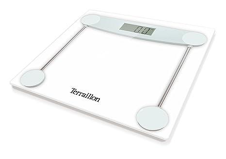 Terraillon báscula de baño electrónica, pantalla LCD, cristal, 150 kg/23 St