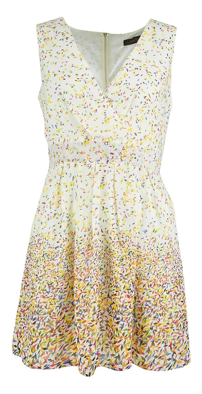 Women's Sleeveless Dress with Diamond Pattern Print