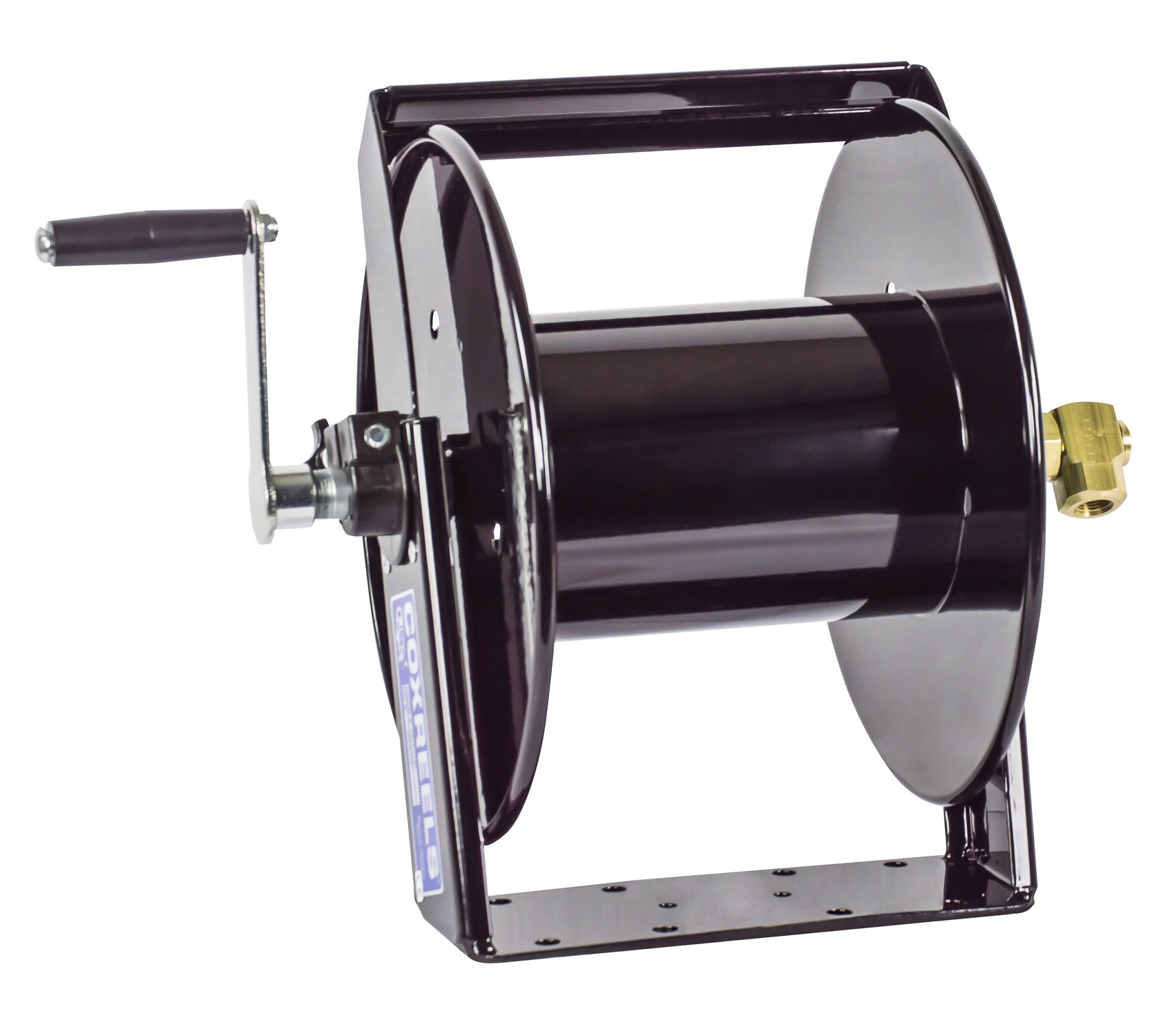 Coxreels SM17-3-250 Swivel Mount Hand Crank Hose Reel: 3/8'' I.D., 250' hose capacity, less hose, 4000 PSI