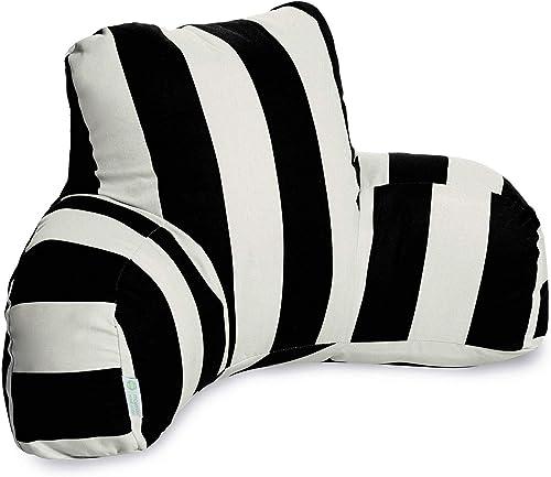 Majestic Home Goods Vertical Stripe Reading Pillow, Black
