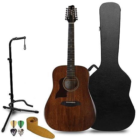 Sawtooth - Guitarra acústica de 12 cuerdas (ST-MHG-AED-12-LH-KIT-2 ...