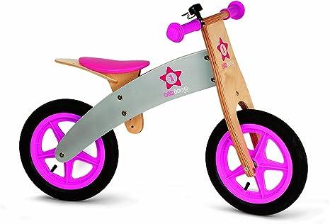 Janod 4503241 - Bicicleta sin pedales en madera de color rosa ...