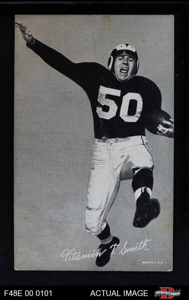 1948 Exhibits Black and White Vitamin Smith Los Angeles Rams (Football Card) Dean's Cards 2 - GOOD Rams 7169jAIZlDL