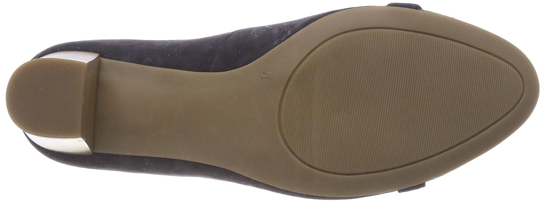 22413, Zapatos de Tacón Para Mujer, Gris (Lt Grey PE Com 214), 37 EU Caprice