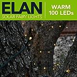 Elan Outdoor Solar LED Fairy Lights - Warm White 100 LEDs