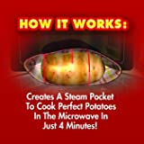 Ontel 1000188 Microwave Cooker, Perfect Potatoes in Just 4 Minutes - As Seen On Tv, Small