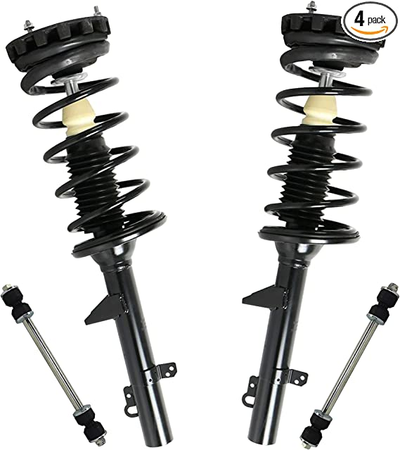 Pair Set 2 Rear Strut Coil Spring Assemblies for Ford Taurus Mercury Sedan Moog