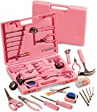 かわいいピンクの工具 女性必見!105種類の工具ツールセット[並行輸入品]
