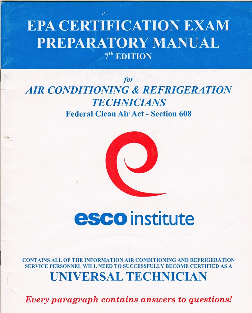 Esco Institute Epa Certification Exam Preparatory Manual