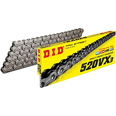 D.I.D 520VX3-96 Steel 520VX3 X-Ring Chain 96 Link: Automotive