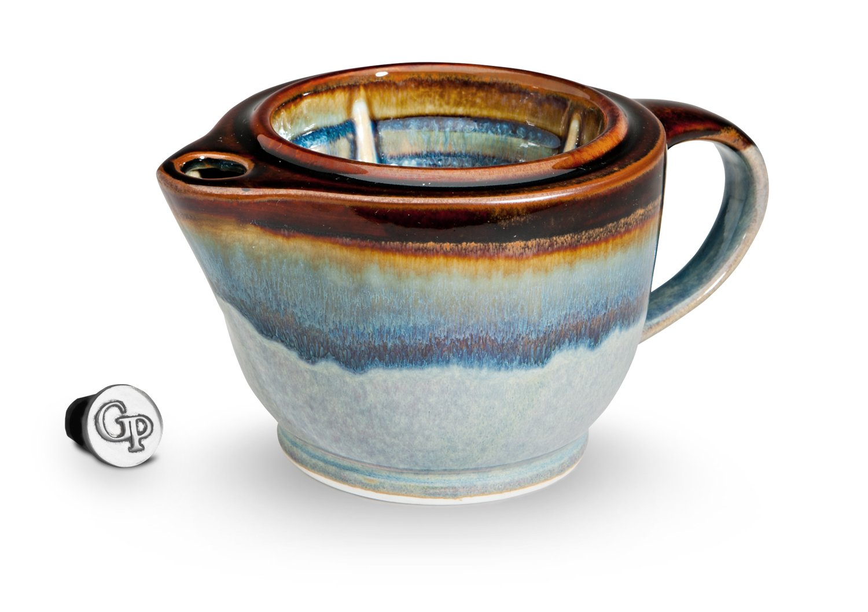 Georgetown Pottery G20 Shaving Scuttle Mug - Hamada & Purple