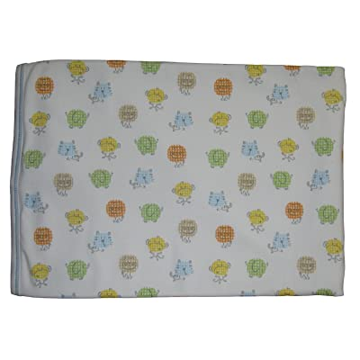 Kissy Kissy Baby-Boys Infant Safari Smiles Print Receiving Blanket