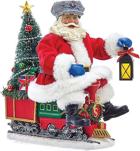 Kurt Adler Lionel Lighted Fabriche Santa on Train Tablepiece Standard