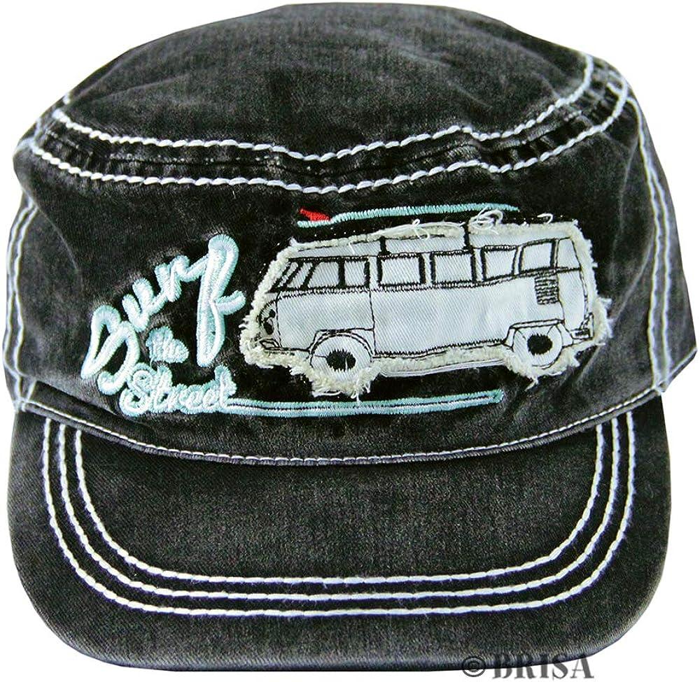 BRISA VW Collection - Volkswagen Samba Bus T1 Camper Van Adjustable Baseball Cap, Hat